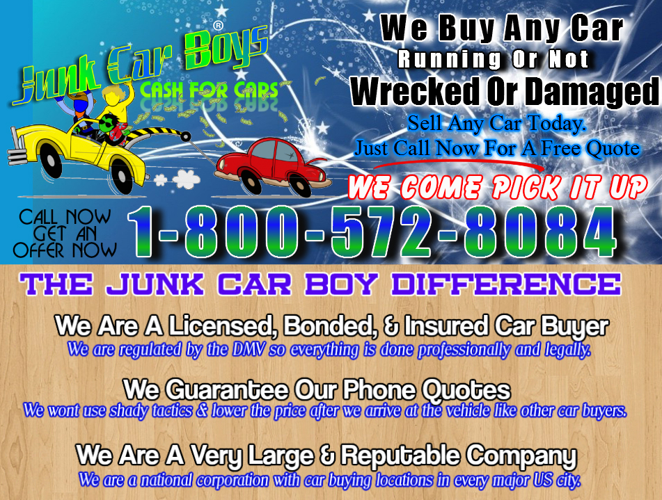 Magnificent We Buy Your Junk Car Contemporary - Classic Cars Ideas ...